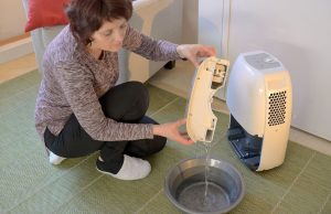 draining the dehumidifier