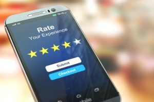 rate your experience on phone