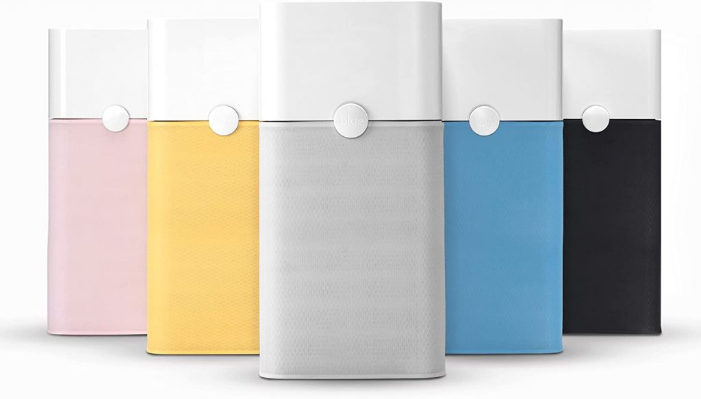 blueair 211 air purifiers with color options, hepa filter with built-in carbon filters and washable prefilter