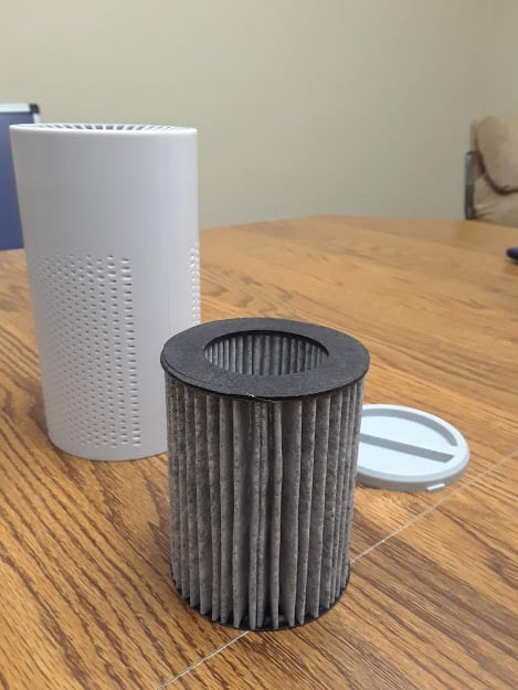 HEPA Filter with Activated Carbon from the Three Musketeers Air Purifier